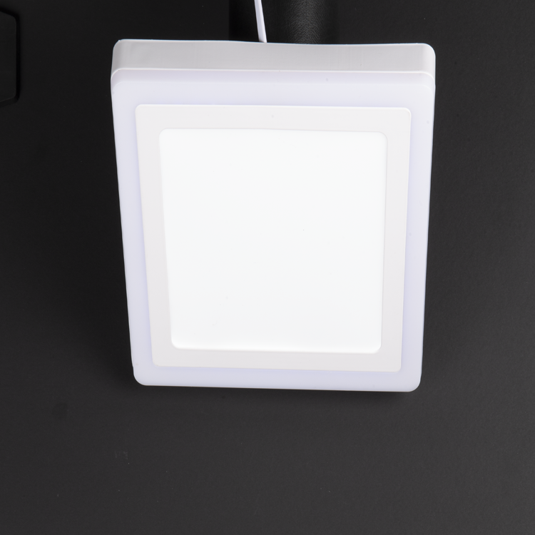 18+6W Surface Mounted Functional Square LED Panel with White and Blue color options at noas.com.tr